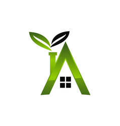 letter a eco home vector image