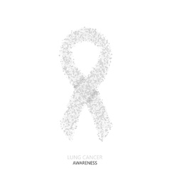 modern lung cancer awareness circles vector image