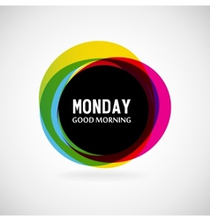 Monday vector image
