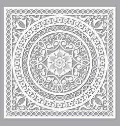 Moroccan mandala carved design vector