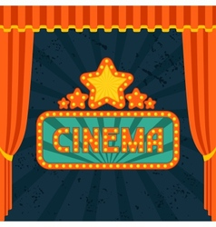 Movie and cinema retro background vector image vector image
