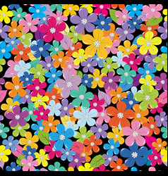 multicolored floral background vector image