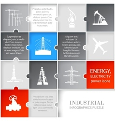 Oil icons infographic vector