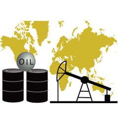Oil - the black gold vector