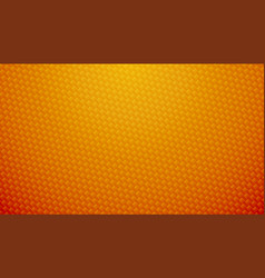 Orange carbon fiber texture background vector