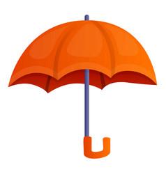 Orange umbrella icon cartoon style vector