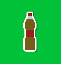 paper sticker on stylish background soda bottle vector image