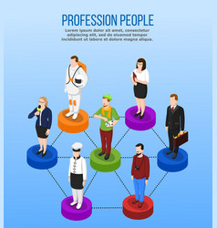 Professional occupation isometric concept vector