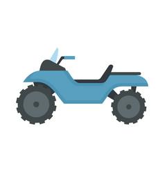 Racing quad bike icon flat style vector