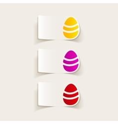 Realistic design element easter egg vector