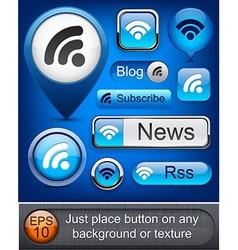 Rss high-detailed modern buttons vector