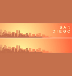 San diego beautiful skyline scenery banner vector