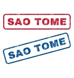 Sao Tome Rubber Stamps vector