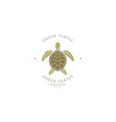 scuba diving logo template vector image
