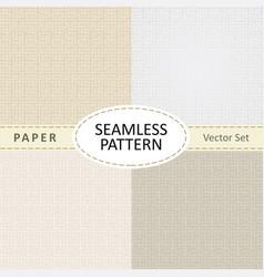 Set beige seamless textures old paper vector