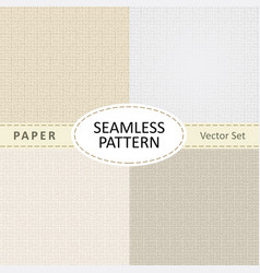 Set of beige seamless textures of old paper for vector
