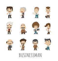 Set of businessman eps10 format vector image