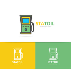 Simple gas and oil station fuel gas gasoline vector
