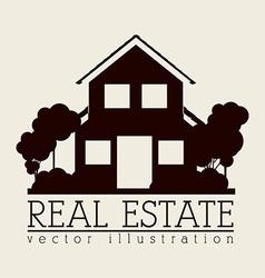 Simple house design icon vector