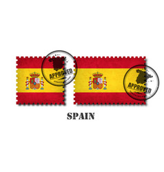 spain or spanish flag pattern postage stamp vector image