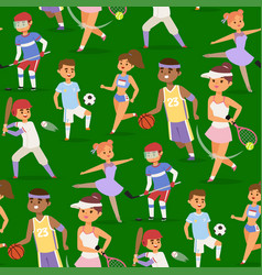 Sport wellness people characters sporting vector