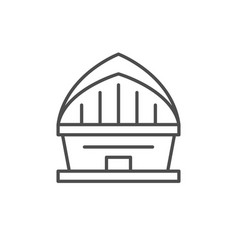 stadium or concert hall line outline icon vector image