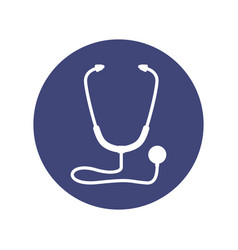 stethoscope medical symbol vector image