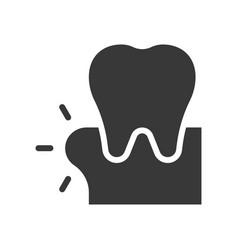 Swollen gums or gingivitis dental related solid vector