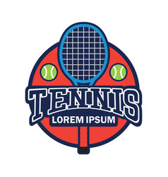 tennis court logo with text space for your slogan vector image