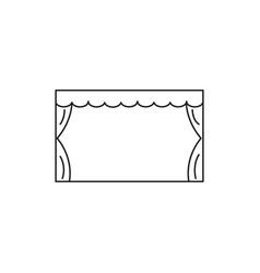 Theatre stage icon vector