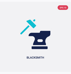 Two color blacksmith icon from cultures concept vector