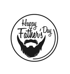 typography poster happy fathers day vector image
