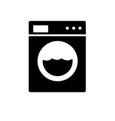 Washing machine icon appliances symbol flat vector