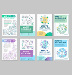 Waste management brochure template layout vector