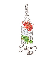 Wine from Italy vector