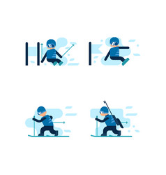 winter games skiing and snowboarding vector image