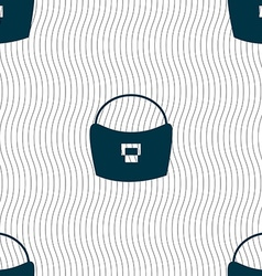 woman hand bag icon sign Seamless pattern with vector image