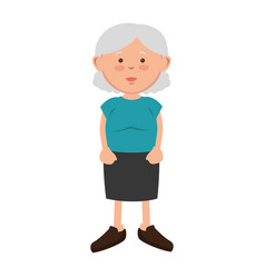 old woman avatar character vector image