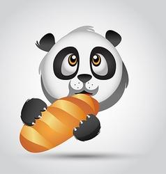 Panda Icon bread vector image