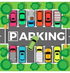 Parking Top View vector image vector image