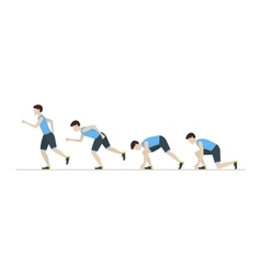 Running Man Step Positions Set vector image vector image