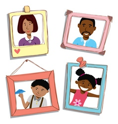african american family vector image vector image