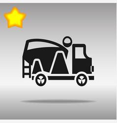 black concrete mixer icon button logo symbol vector image vector image