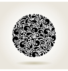 black curves circle vector image