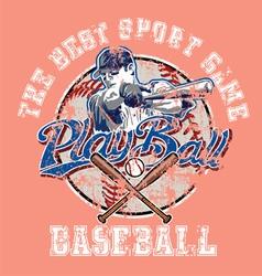 PlayBall baseball crackpaint vector image vector image