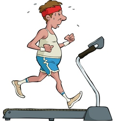 treadmill vector image vector image