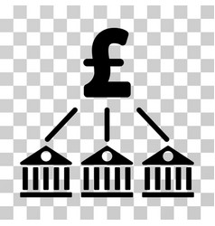 bank pound expenses icon vector image vector image