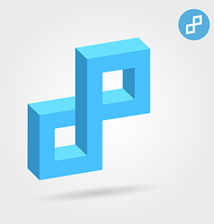 Cubic 3d p abstract letter vector image vector image