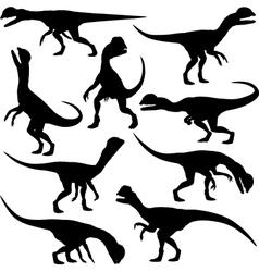 Dilophosaurus dinosaur vector image vector image