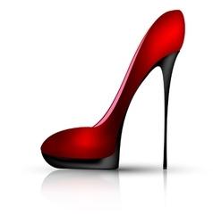 ruby shoe vector image vector image